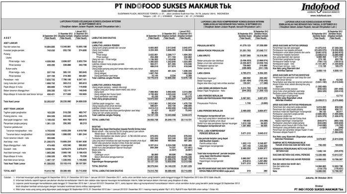 laporan keuangan PT. INDOFOOD